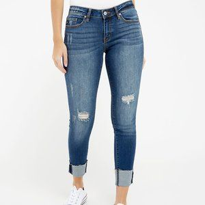 NWOT KanCan Destructed Cuffed Skinny Jeans 9/28